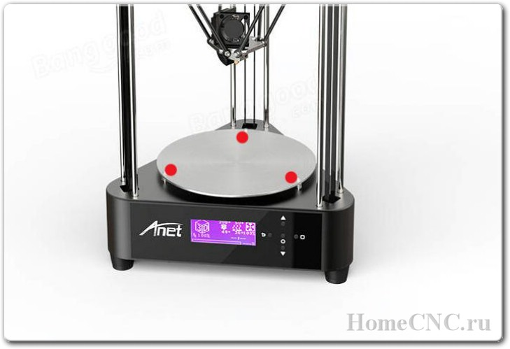 Anet A4 - неплохой бюджетный дельта принтер