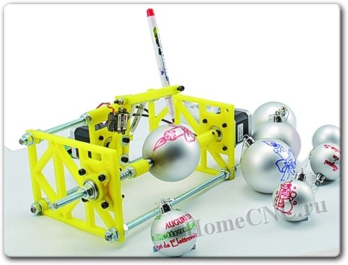 Новогодний ЧПУ станок для раскраски елочных игрушек