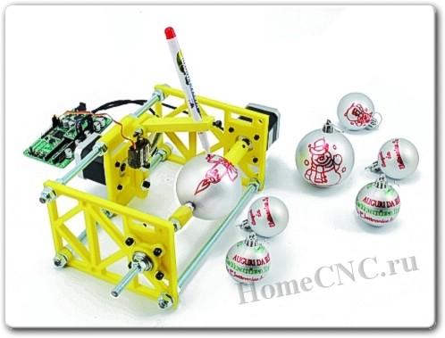 ЧПУ станок для раскраски елочных игрушек
