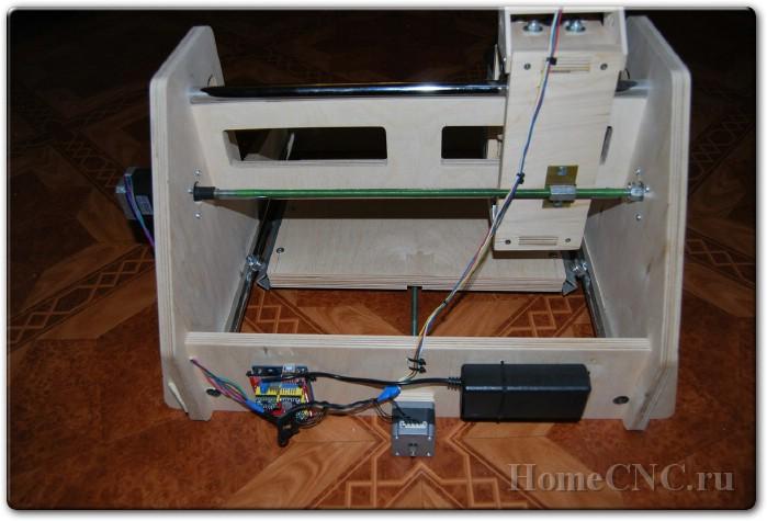 Чертежи и постройка ЧПУ станка под USB