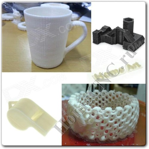 3D обекты напечатанные на Heacent 3DP01 DIY 3D