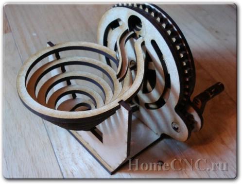 спиральная marble mashine чертеж