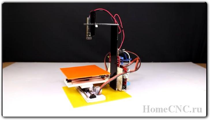 Как сделать лазерный мини ЧПУ станок