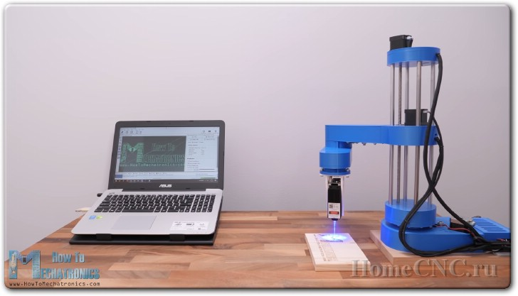 Самодельный робот-рука с лазерным гравером