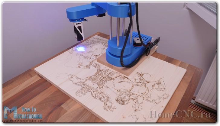 Самодельный робот для лазерной обработки деталей