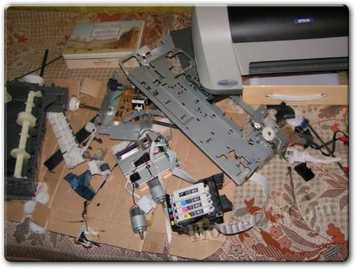 Детали старого принтера для ЧПУ станка или 3D принтера