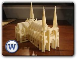 3D модель готического замка сделанная на принтере Cupcake