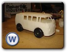3D модель автомобиля сделанная на принтере Cupcake