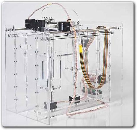Самодельный 3D принтер с послойной печатью Pwdr-Model-0.1