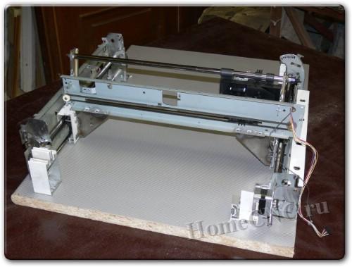 самоедльный плоттер из принтеров
